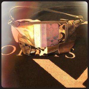 Mini coach patchwork handbag